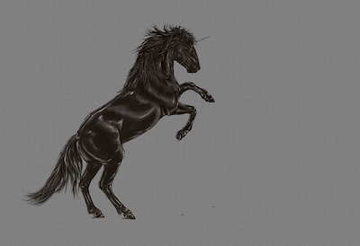 Black unicorns may seem daunting, but actually they are breathtakingly beautiful with their tall and spindly legs.