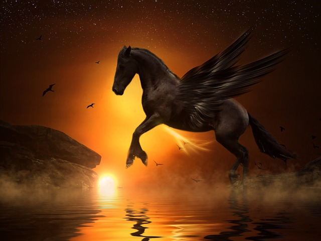 Pegasi can fly. They are said not to be real unicorns