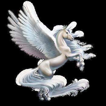 Beautiful and majestetic unicorn with wings- alicorn.