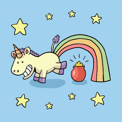 Unicorn pooping rainbows. It is really possible!