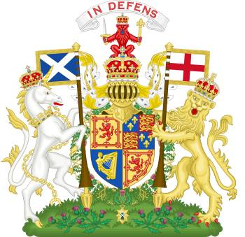 Unicorn on the Royal coat of arms of Scotland
