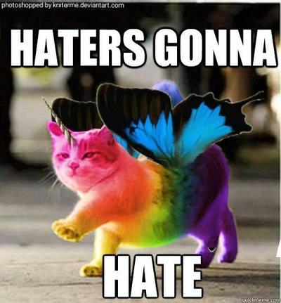 Rainbow colored unicorn cat!