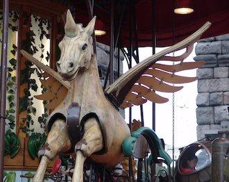 Alicorn - the winged unicorn- used in the amusement park