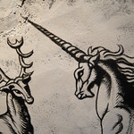 Unicorn with long and sharp horn.