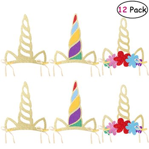 Unicorn headbands for fun unicorn themed costume party.