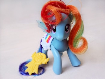 """""""My Little Pony"""" enjoying the fact that it started the unicorn trend."""