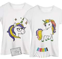 Unicorn T-shirt set for coloring with your friend and/or partner
