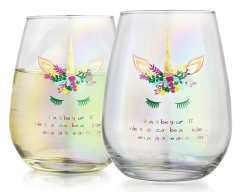 Unicorn wine glasses to give your friend as a gift