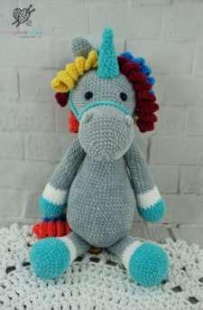 Large Crochet Unicorn Stuffed Animal