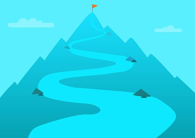 Way to the top - unicorns are as hard to catch as the top of the mountain.