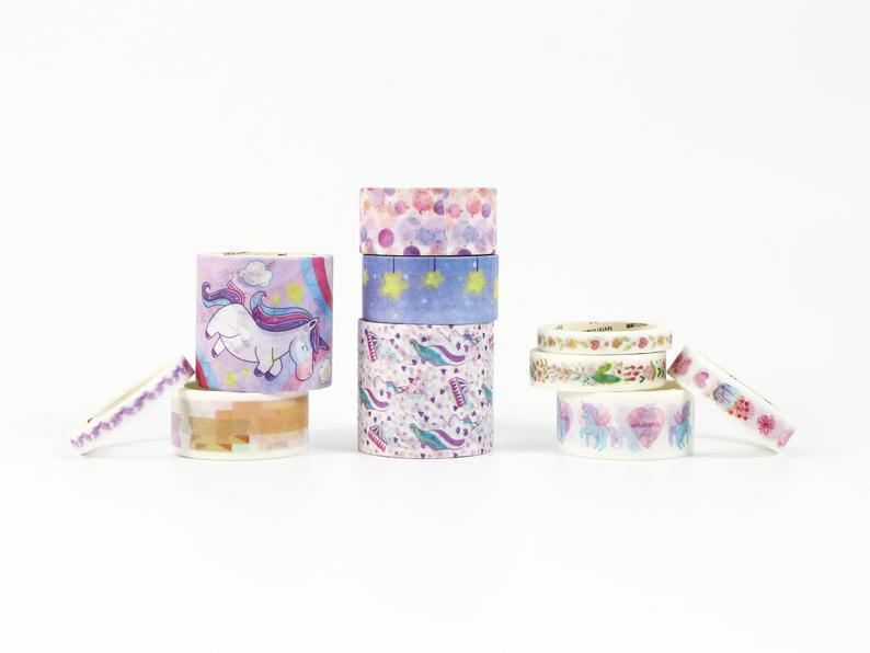 Unicorn Washi Tape in Different Designs
