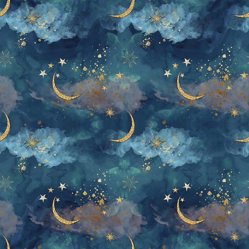 Mystical unicorn Fabric