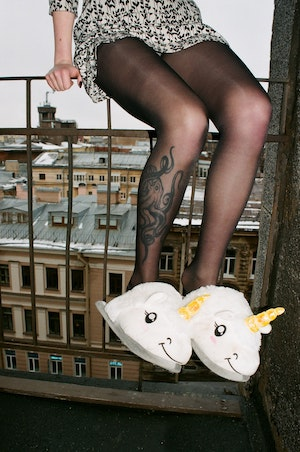 Unicorn power to inspire even with easy slippers.