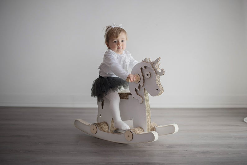 wooden Cosmo Rocking Unicorn