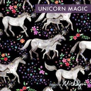 Unicorn magic dark fabric