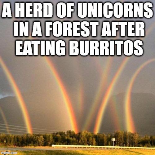 Unicorn pooping rainbows meme